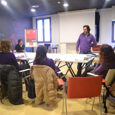 Foto del equipo de PiensaPiensa reunido